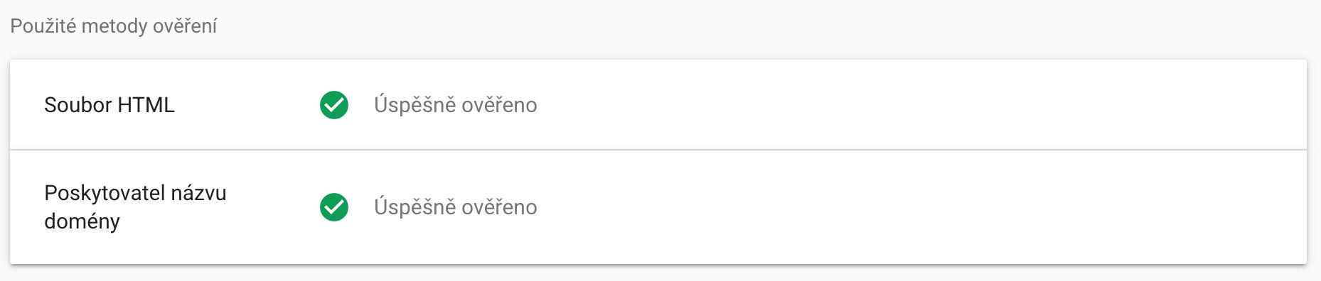 Google Search Console - Settings