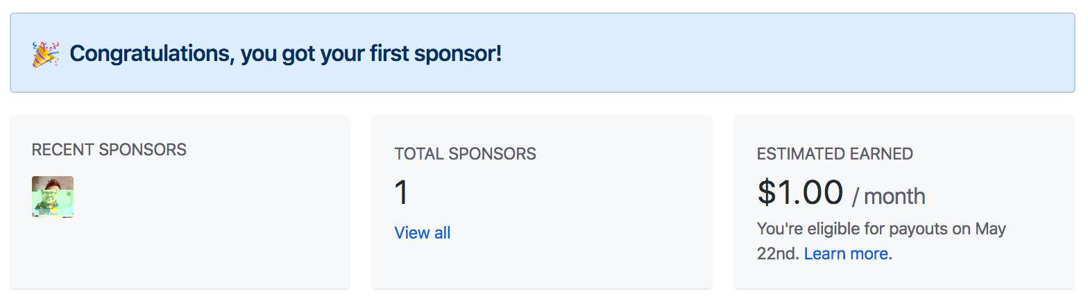 Github Sponsor - First Sponsor
